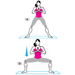 plie squats: the lower the better